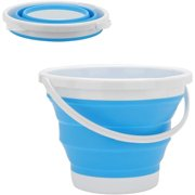 Outdoor Collapsible Bucket, Foldable Silicone Bucket 10L Round Outdoor Folding Barrel for Kitchen Outdoor Camping Hiking Fishing Office Or Sport.