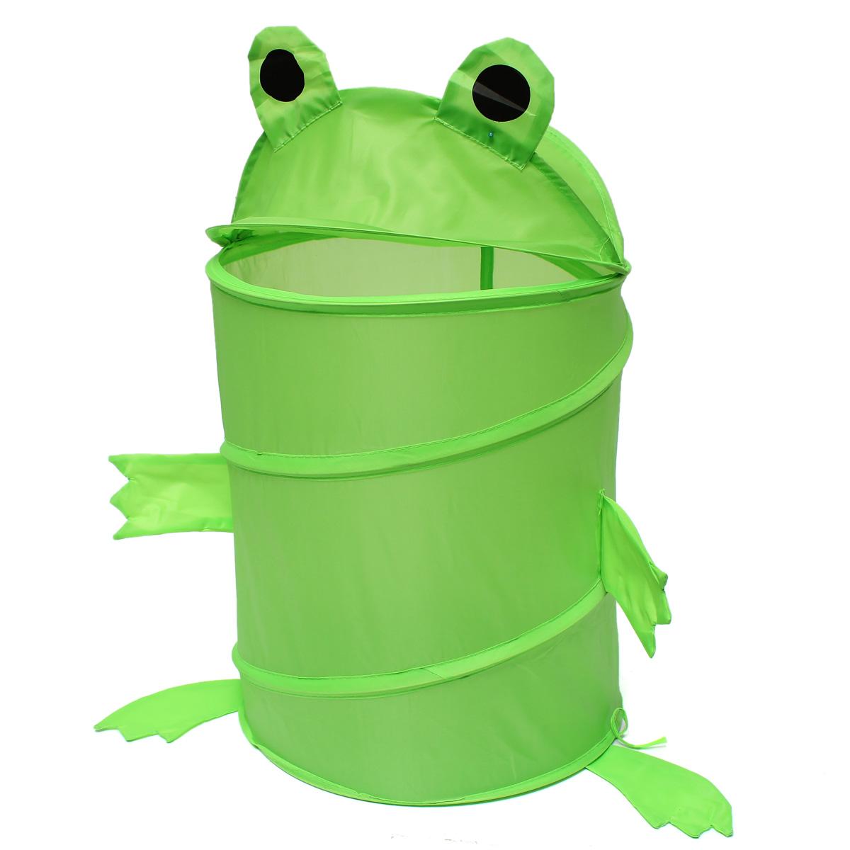 Kids Baby Foldable Laundry Hamper Pop Up Animal Laundry Basket Bag Toys Storage Dirty Washing Clothes & Toy Storage Organizer
