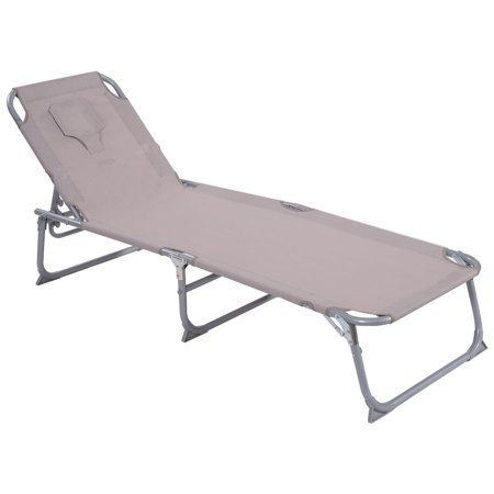 Adjule Pool Chaise Lounge Chair Recliner Beach Outdoor Patio Deck Textilene