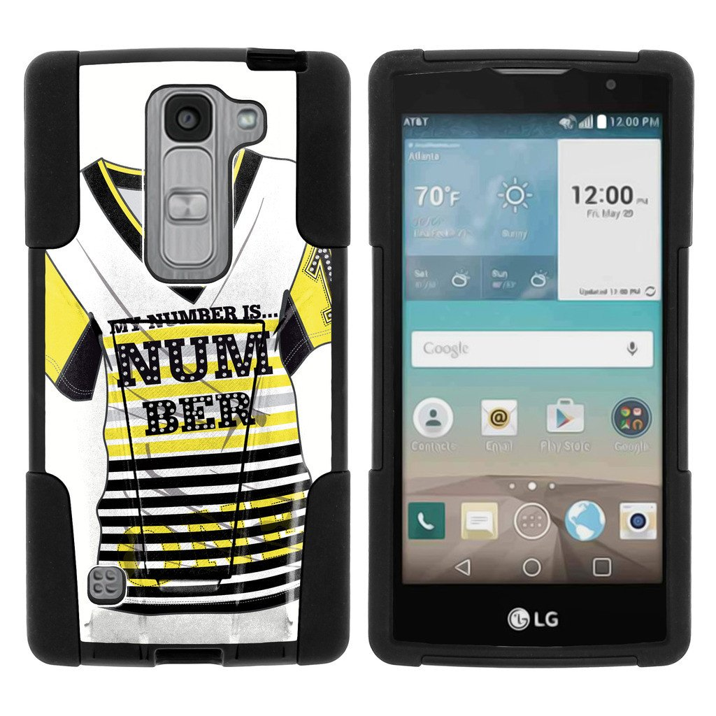 LG Escape 2 and Spirit LTE H443 STRIKE IMPACT Dual Layer Shock Absorbing Case with Built-In Kickstand - Lavender Swamp