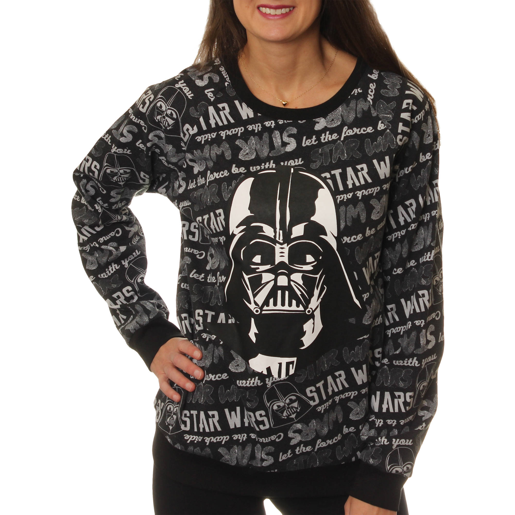 "Juniors' ""Star Wars""  Crewneck Pullover Sweater"