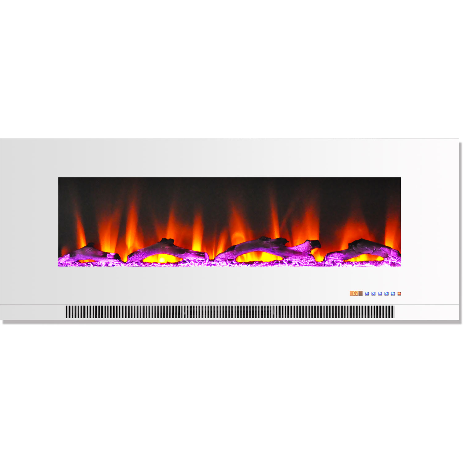 "Cambridge 50"" Wall-Mount Electric Fireplace Heater with Multi-Color LED Flames and... by Cambridge"