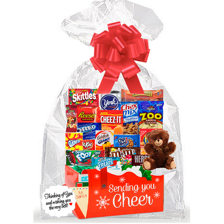 Sending You Cheer Holiday Thinking Of You Cookies, Candy & More Care Package Snack Gift Box Bundle Set - Arrives in 3-4Business Days