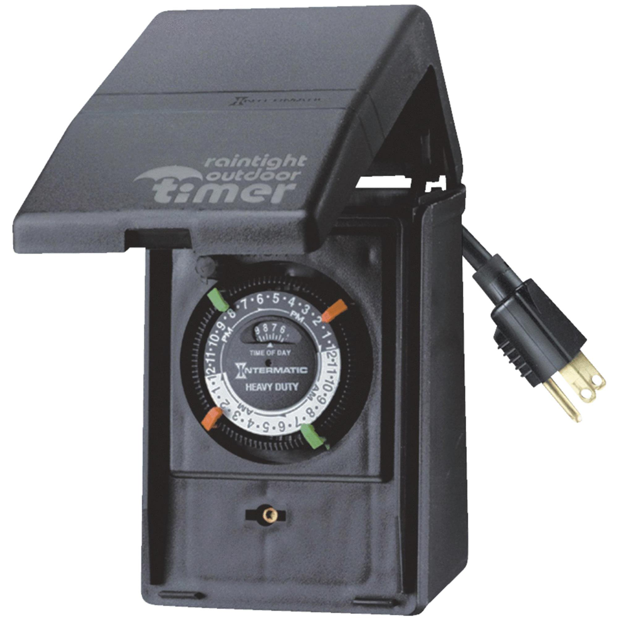 Intermatic HB11K 15-Amp Outdoor Mechanical Plug-In Timer with Weatherproof Enclosure by Intermatic