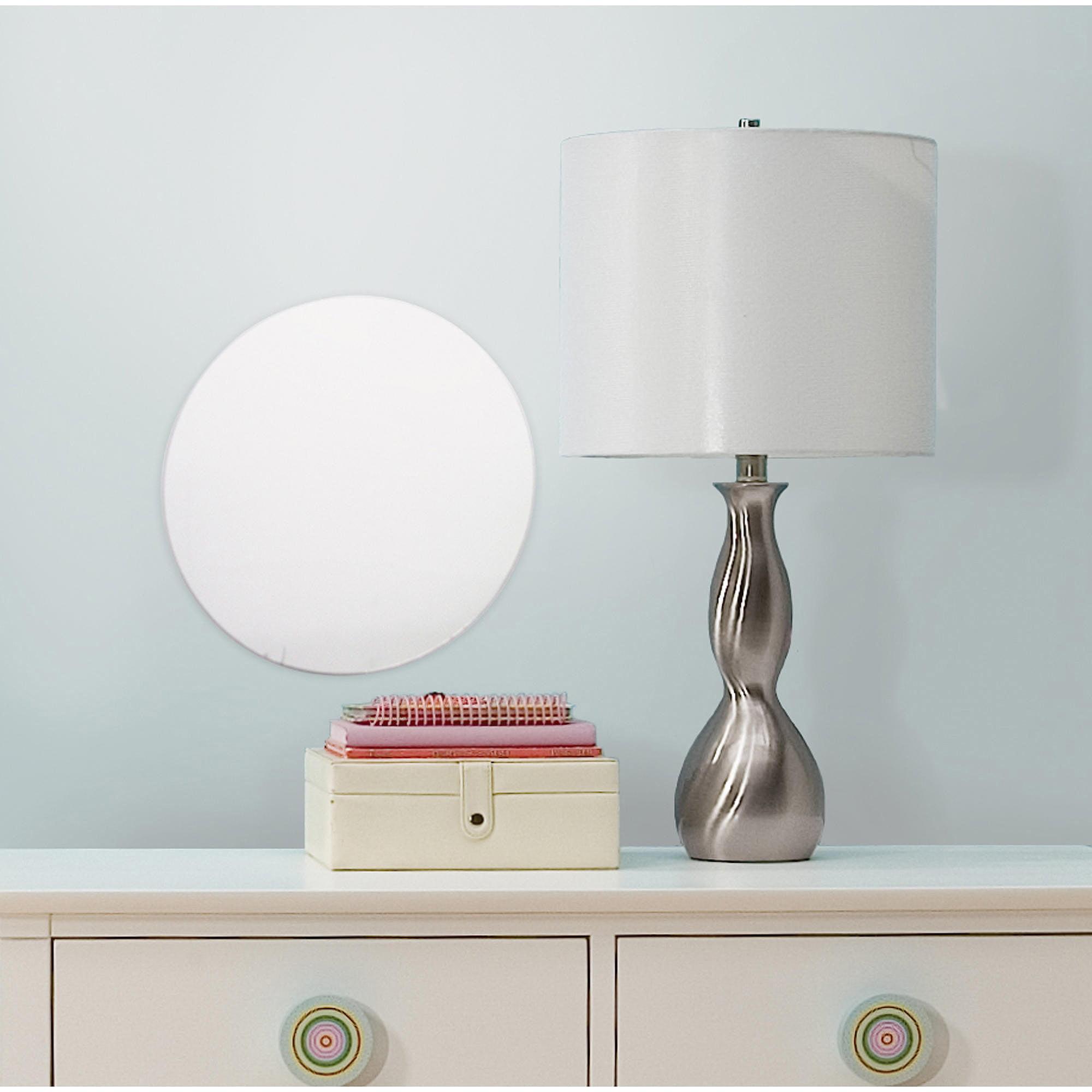 RoomMates Dot/Circle Peel and Stick Mirror, Large