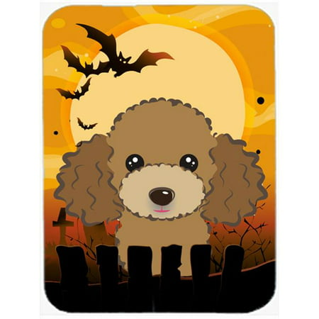 Carolines Treasures BB1814MP Halloween Chocolate Brown Poodle Mouse Pad, Hot Pad & Trivet - image 1 of 1