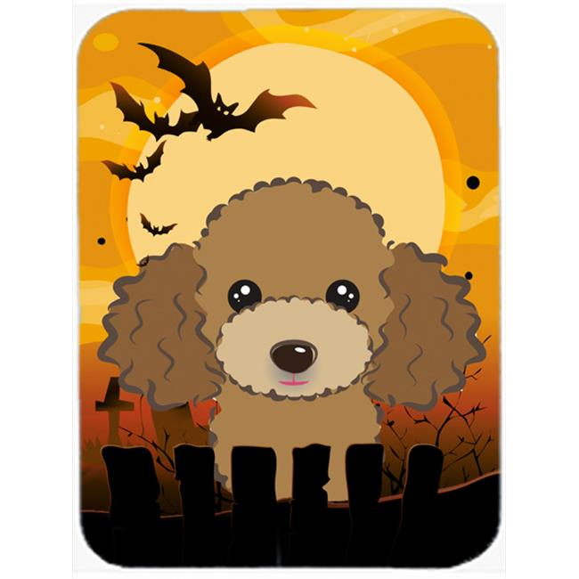 Halloween Chocolate Brown Poodle Mouse Pad, Hot Pad & Trivet