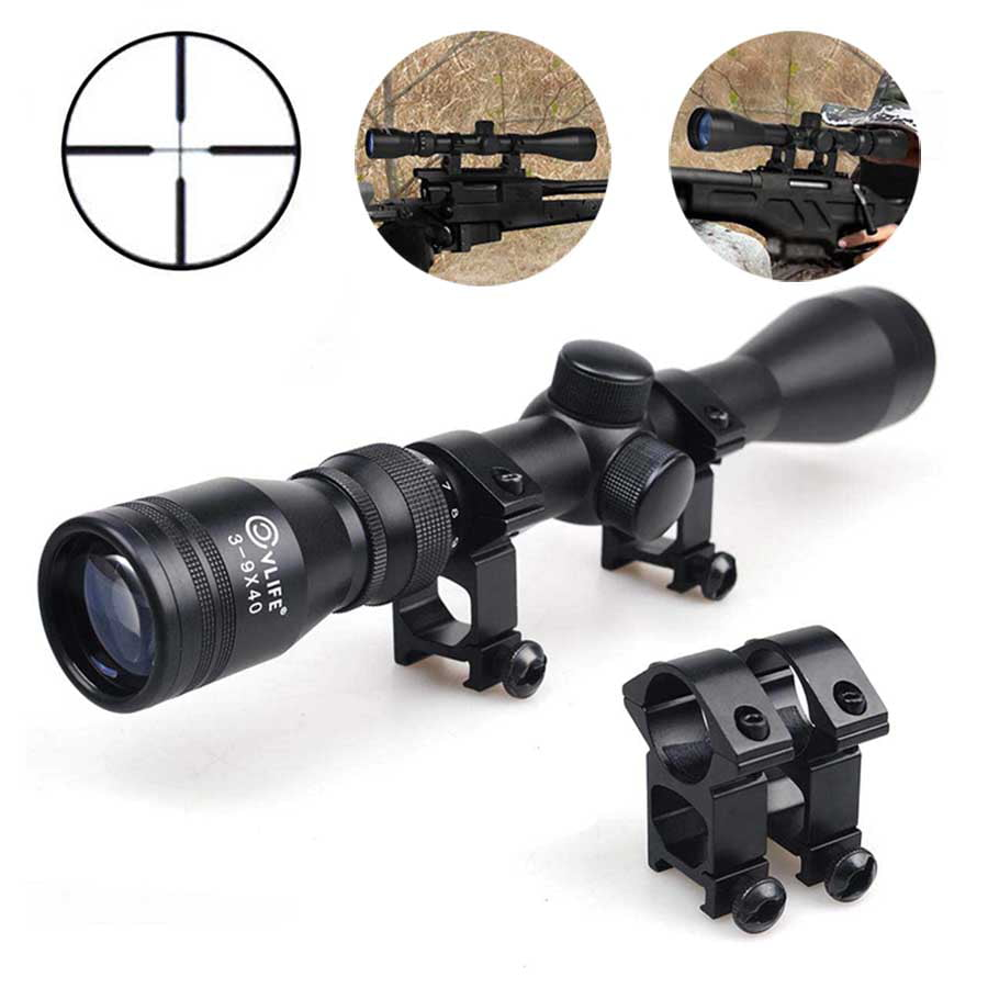 Cvlife Tactical 3-9x40 Optics R4 Reticle Crosshair Air Sniper Hunting Rifle Scope by CVLIFE