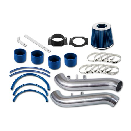 RL Concepts Blue Short Ram Air Intake Kit + Filter For Nissan 90-96 300ZX Fairlady Z32 3.0 V6 Non-Turbo ()