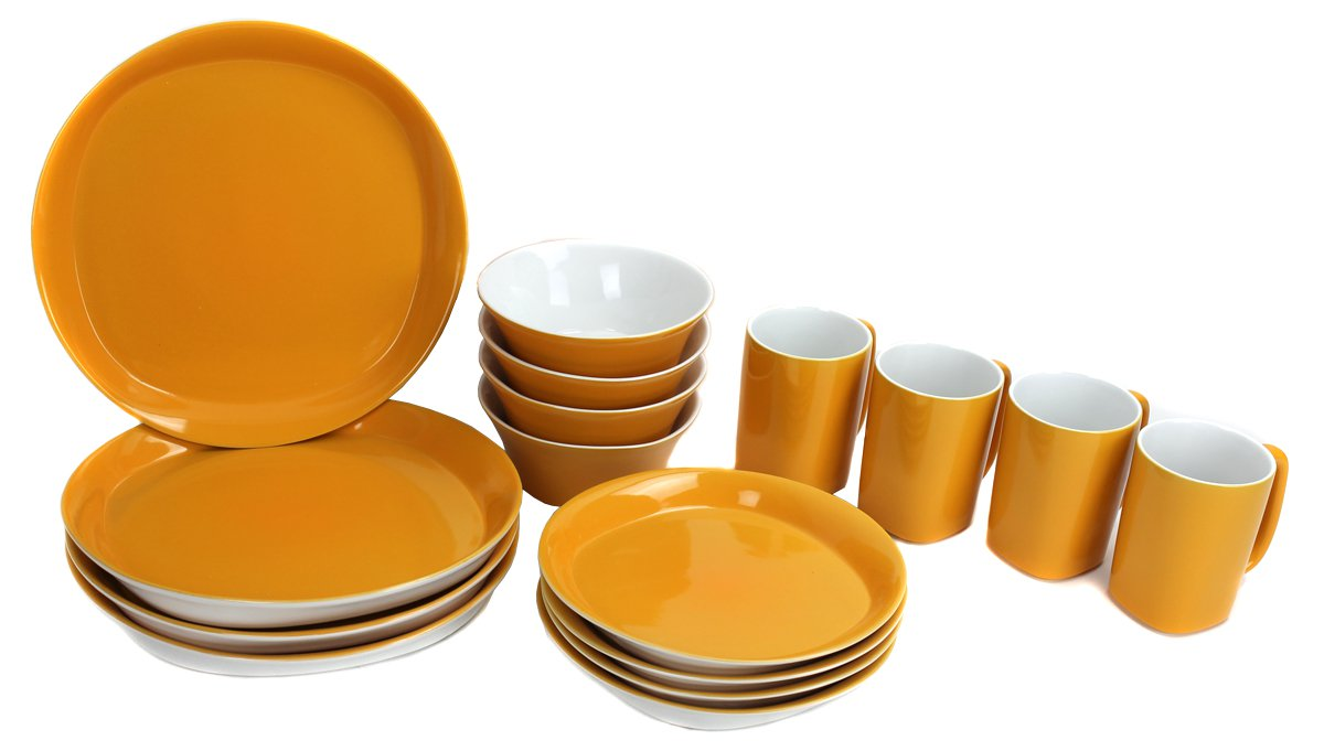 Rachel Ray 58088 Round and Square 16 Piece Dinnerware Stoneware Set Yellow  sc 1 st  Walmart & Rachel Ray 58088 Round and Square 16 Piece Dinnerware Stoneware Set ...
