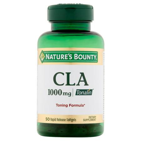 Nature's Bounty CLA Tonalin 1000mg Rapid Release Dietary Supplement, Softgels, 50 (Best Source Of Cla)