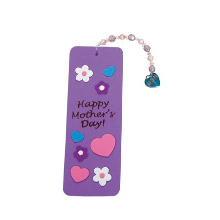 Mother's Day Beaded Charm Bookmark Craft Beaded Charm Bookmark Craft