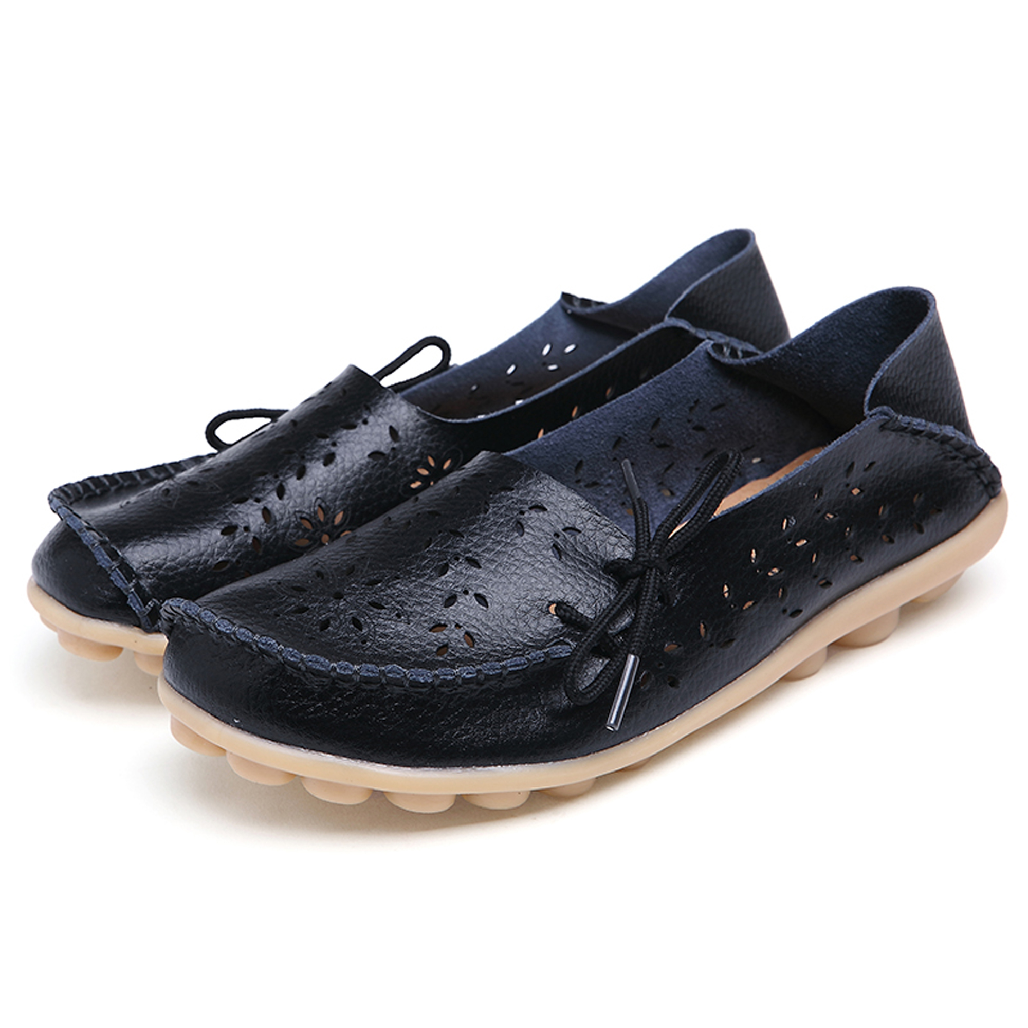 Women's Genuine Leather Loafers Casual Moccasin Driving S...