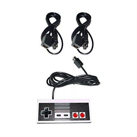 - CONTROLLER GAMEPAD + 2 X 6' FT LONG EXTENSION CABLE CORD FOR NINTENDO NES CLASSIC MINI EDITION GAME CONSOLE