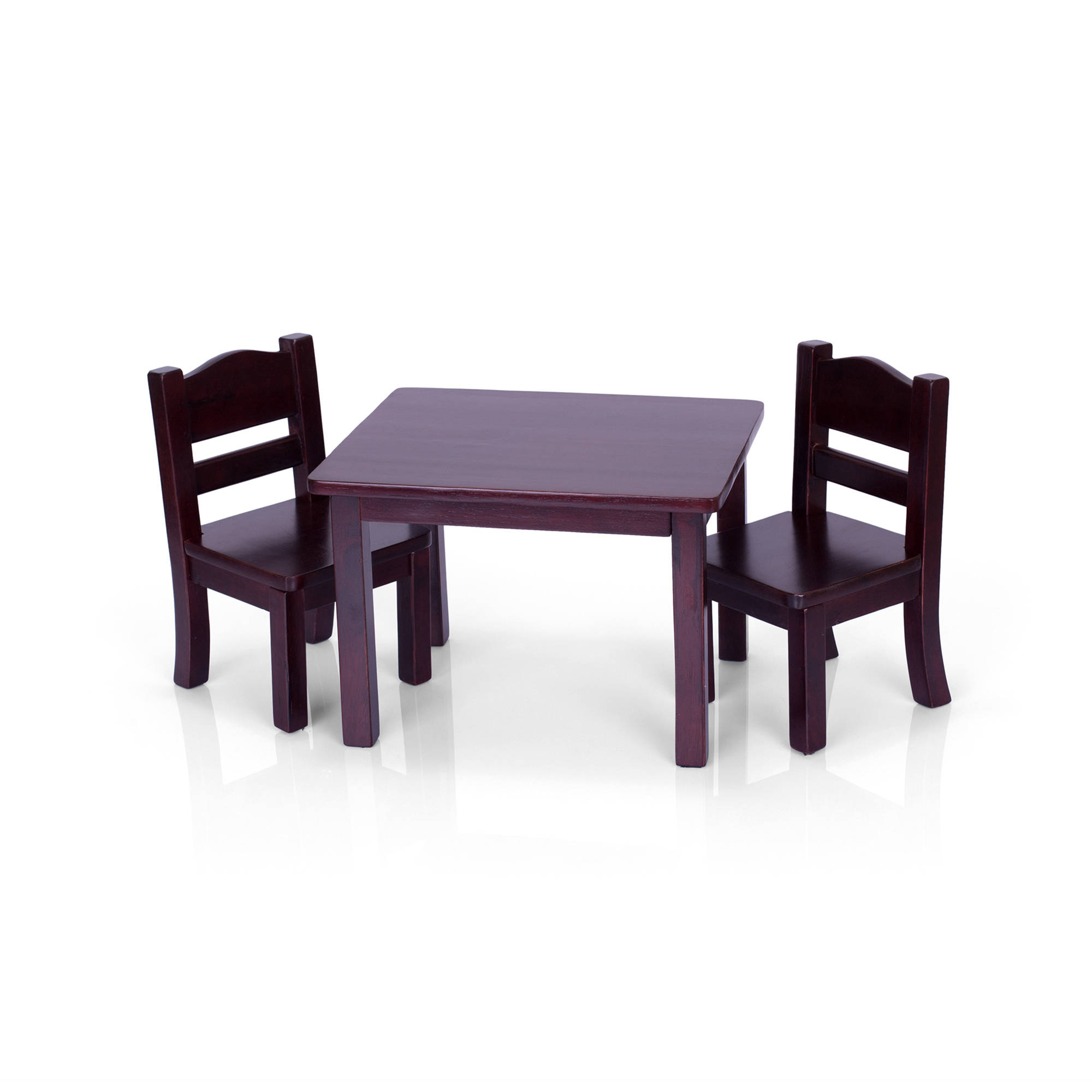 Guidecraft Doll Table and 2 Chairs Set Espresso Walmart