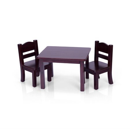 Guidecraft Doll Table And 2 Chairs Set Espresso