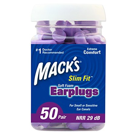 Safe Sound Slim Fit Earplugs for Small or Sensitive Ear Canals 50