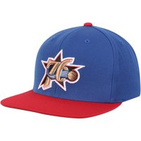 Philadelphia 76ers Mitchell & Ness Hardwood Classics XL Logo 2-Tone Adjustable Hat - Royal/Red - OSFA