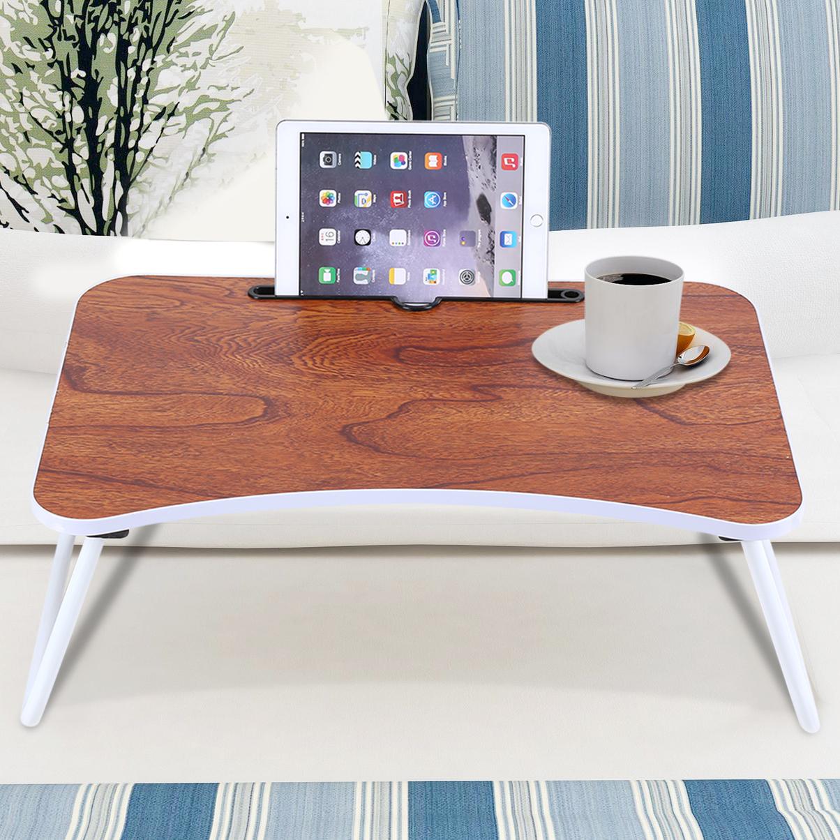 Yosoo Bed Lapto Table,Multi-purpose Folding Laptop Bed Desk Portable Standing Table Breakfast Tray,Bed Desk