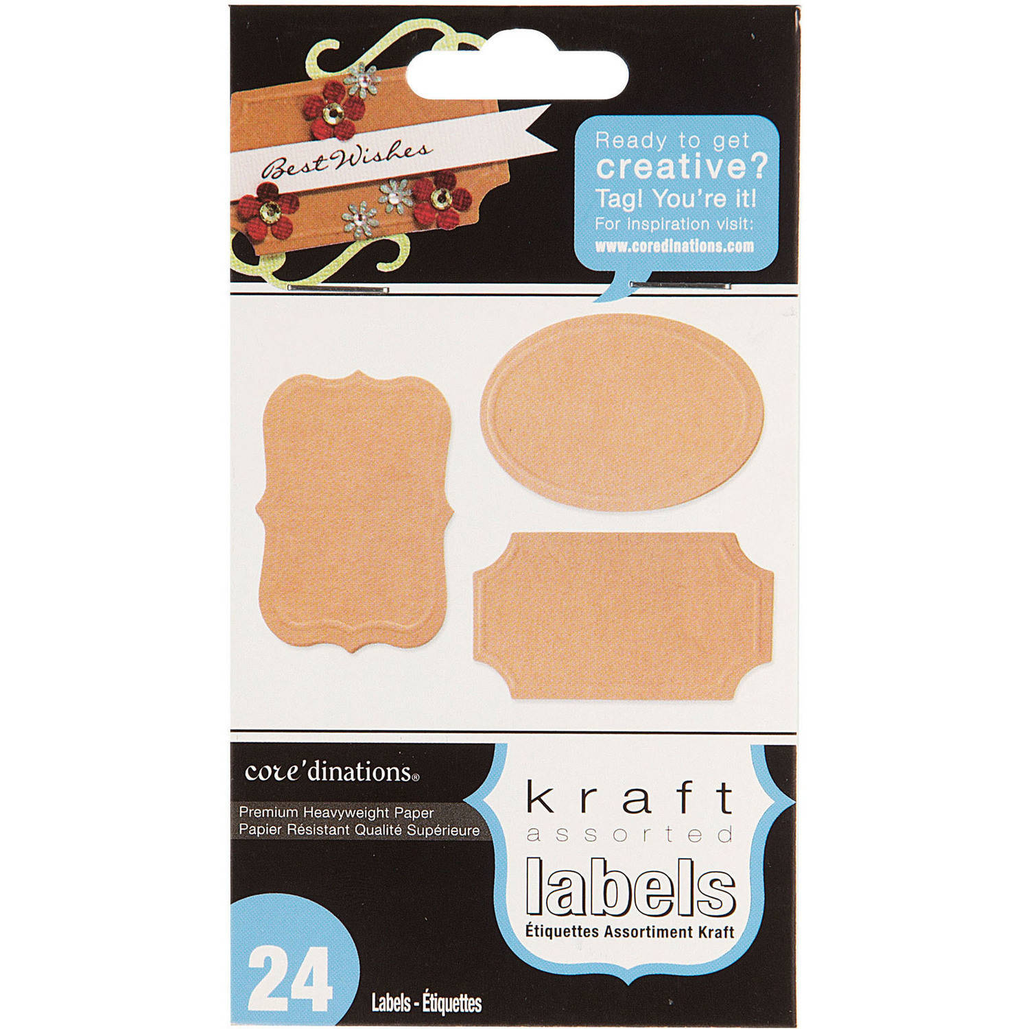 Assorted Kraft Brown Labels, 24pk by Generic