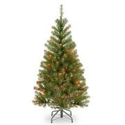 4 ft. Pre-Lit Aspen Spruce Artificial Christmas Tree - Multi-Color Lights