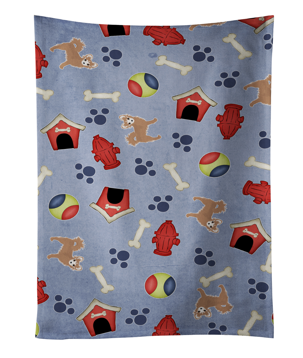 Dog House Collection Longhair Tan White Chihuahua Kitchen Towel BB4066KTWL by Caroline's Treasures