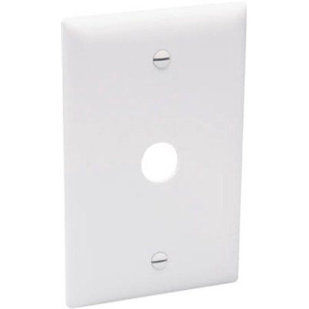 Pass & Seymour TP60W Wall Plate, Telephone/Cable-Outlet, White Thermoplastic