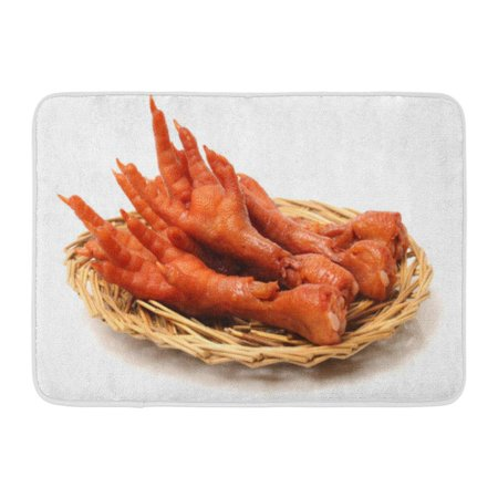 GODPOK Asia Orange Cooking Chicken Feet on White Red Appetizer Asian Rug Doormat Bath Mat 23.6x15.7 inch (Cooking Light Halloween Appetizers)