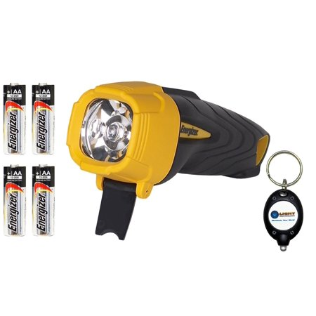 Energizer - BUNDLE  Industrial INRUB21EH LED Rubber Flashlight 45 Lumens w   4x AA Max Alkaline batteries and Lightjunction Keychain Light By Energizer  ... 486559c8a