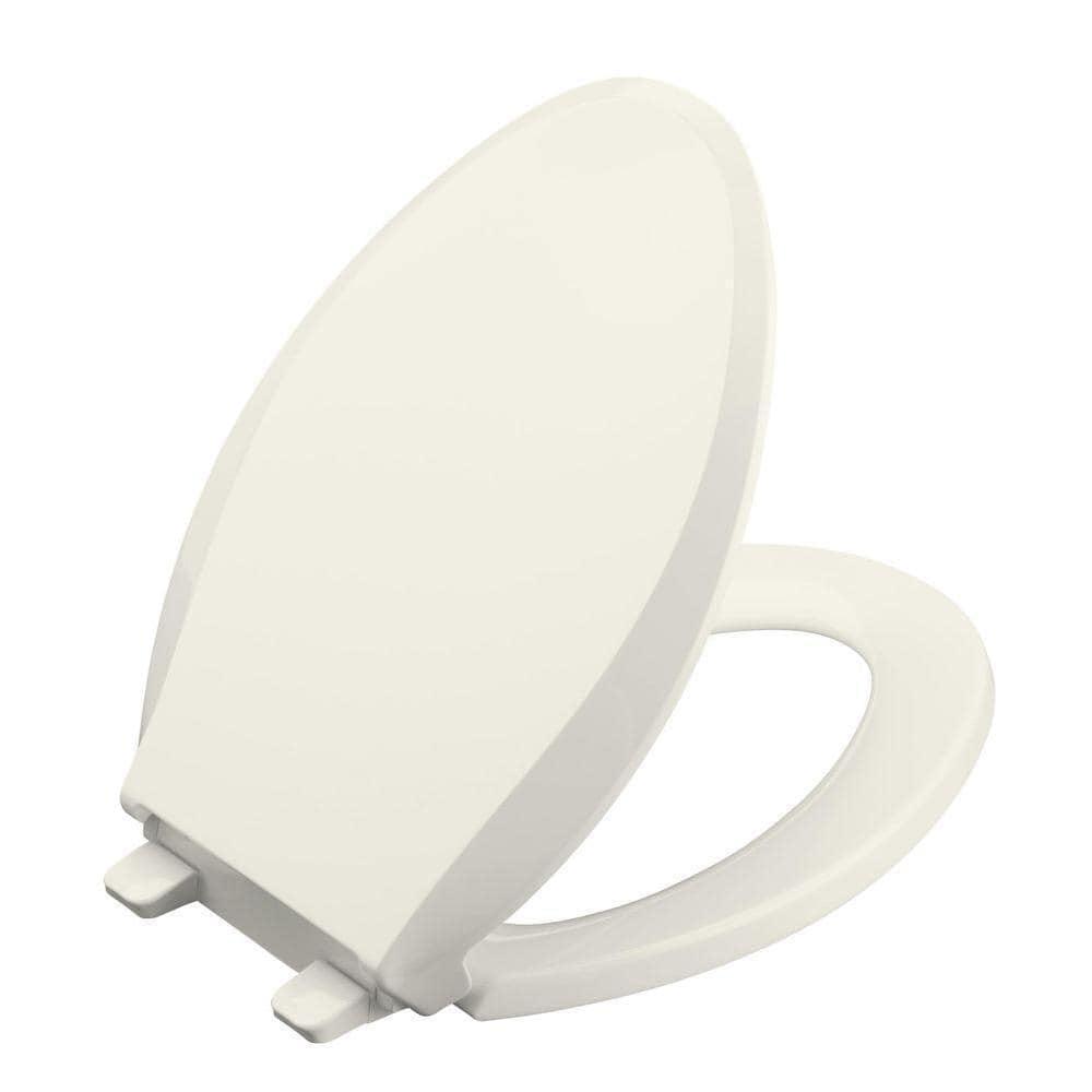 Outstanding Kohler Cachet Quiet Close Elongated Toilet Seat With Lid White Machost Co Dining Chair Design Ideas Machostcouk