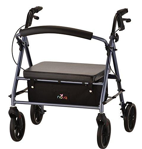 NOVA Medical Products 4239BL Vibe Petite Wide Rolling Walker, Blue