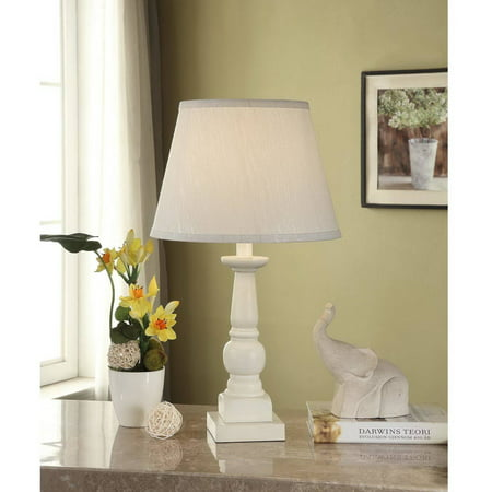 Mainstays Washed Finish Wood Table Lamp