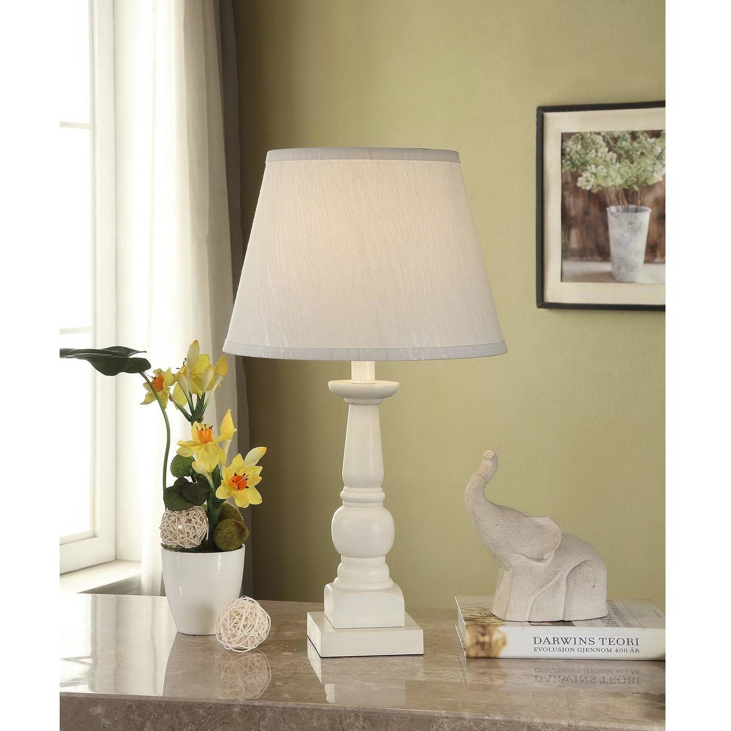 Mainstays Washed Finish Wood Table Lamp Base