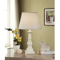 Mainstays Washed Finish Wood Table Lamp Base, Shade Not Included