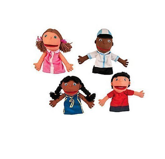 Plush Hand Puppets, Happy Kids, Set of 4 Puppets by Oriental Trading Company