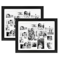 "76dbdf89daa Product Image Set of Two 16"" x 20"" Black Collage Matted Photo Frames"