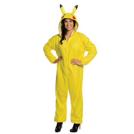 Pikachu Pokemon Womens Costume Unionsuit  Medium 8-10