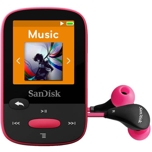 8GB CLIP SPORT MP3 PORTABLE AUDIO PLAYER USB BLACK 1.44IN LCD