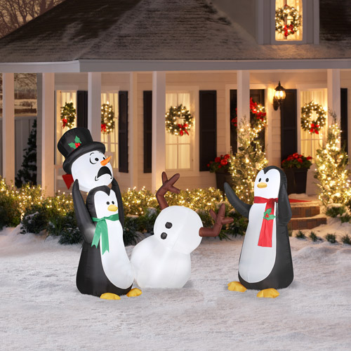 Outdoor Penguin Christmas Decorations