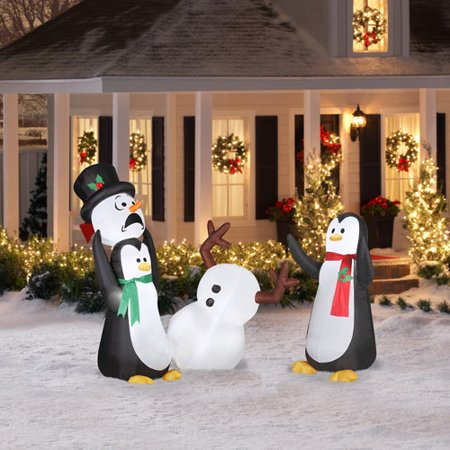 Airblown inflatable 5 39 keep away snowman for Airblown christmas decoration