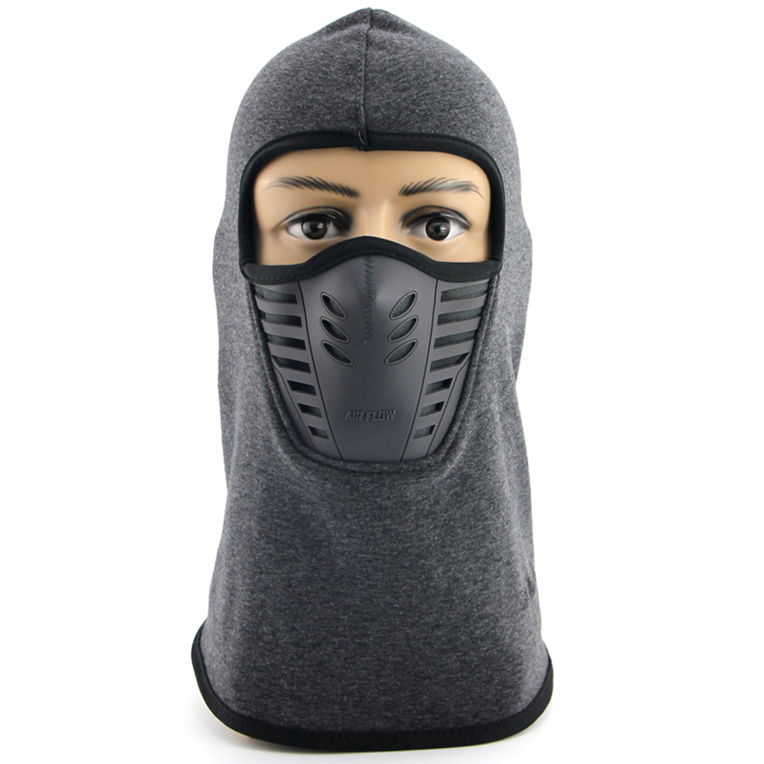 Balaclava Face Mask   Wind Resistant and Dust proof Winter Ski Mask Hoodie Style Gray by