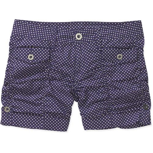 No Boundaries Juniors' Ruched Woven Cuffed Shorts