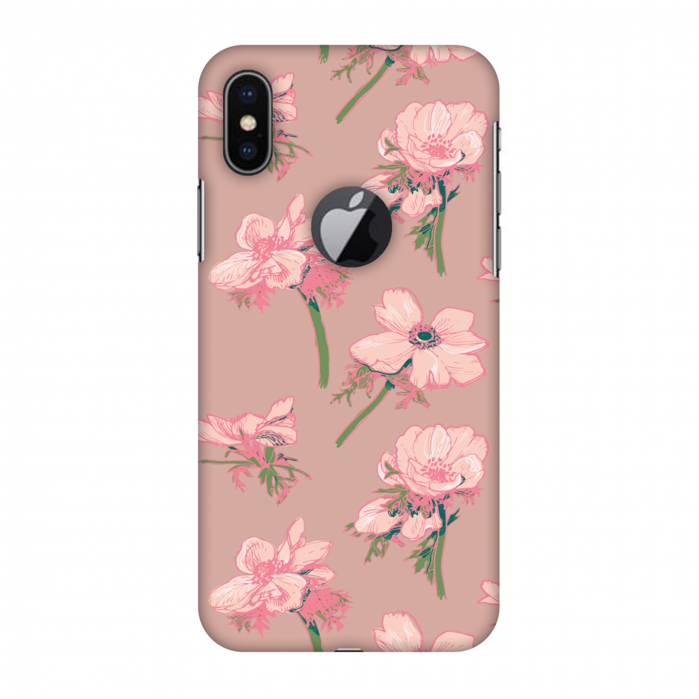 iPhone X Case - Floral Beauty, Hard Plastic Back Cover. Slim Profile Cute Printed Designer Snap on Case with Screen Cleaning Kit