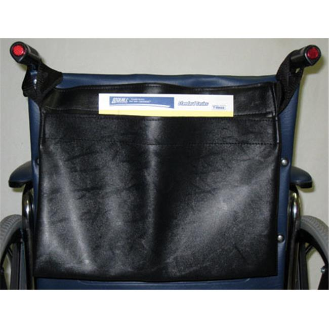New Solutions AC125 Chart Pocket for Wheelchair, Black Vinyl - 9 x 14 x 1.5 in.