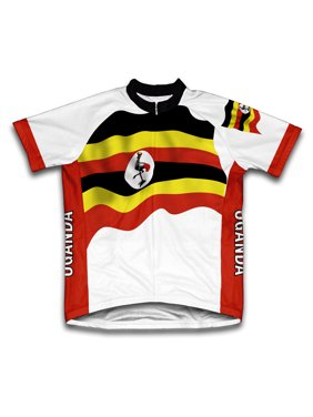 Product Image Uganda Flag Short Sleeve Cycling Jersey for Men - Size XS cff1aff24