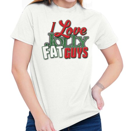 Love Jolly Fat Guys Holiday Merry Christmas T Shirt
