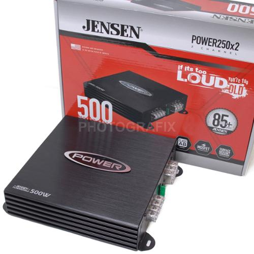 Jensen Power250x2 250 Watt RMS 2 Channel Car Stereo Amplifier