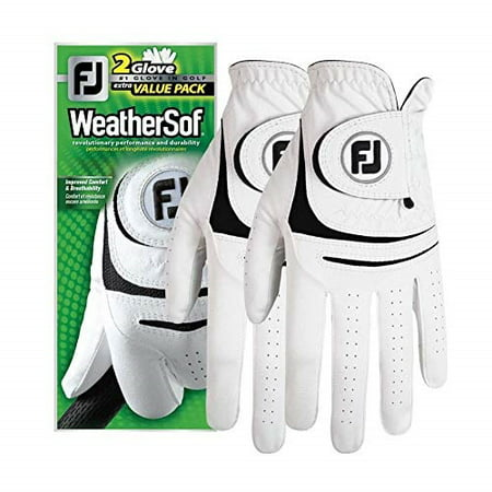 new 2017 footjoy weathersof mens golf gloves (2 pack) (cadet medium large, worn on left hand) Footjoy Wintersof Golf Glove