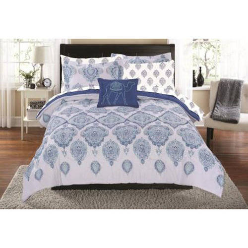 Mainstays Blue Arabesque Bed in a Bag Coordinated Bedding