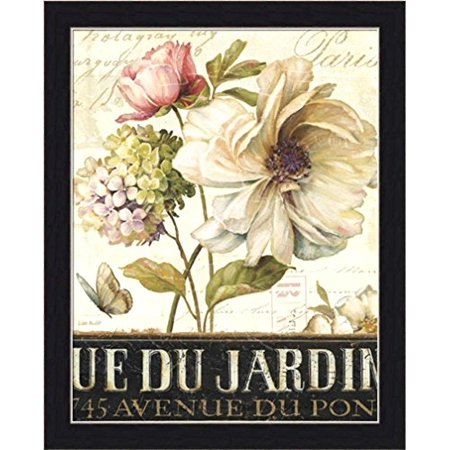 FRAMED Marche De Fleurs (Flower Market) II by Lisa Audit 14x11 Art Print Poster Flowers Roses Butterfly Romantic Ue